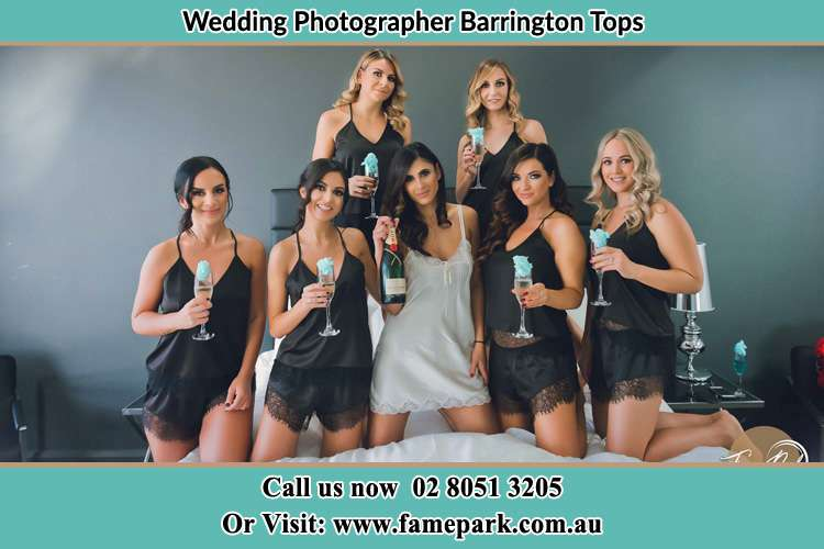Bride and Bride's maids are in bed Barrington Tops