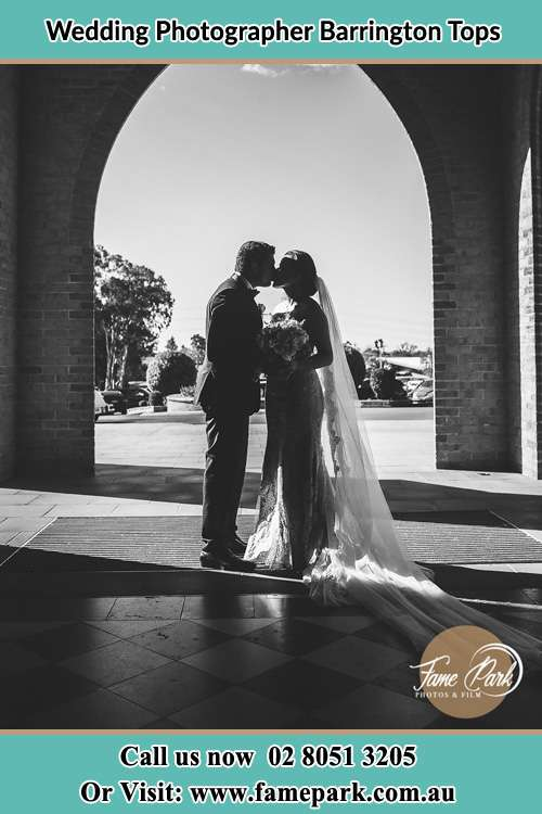 Photo of the Groom and the Bride kissing Barrington Tops NSW 2422