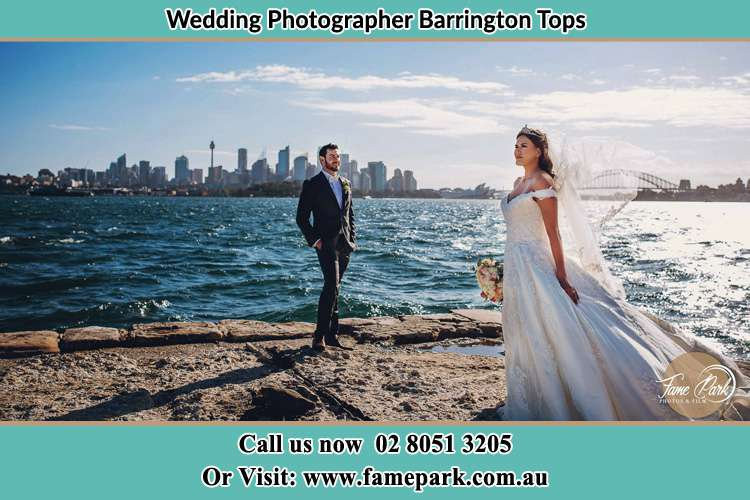 Photo of the Groom and the Bride at the sea front Barrington Tops NSW 2422