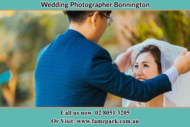 Photo of the Groom unveil his Bride Bonnington NSW 2587