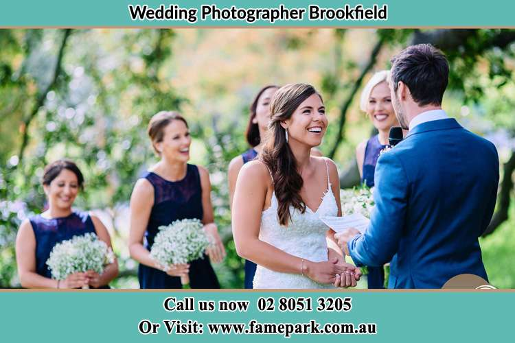 Photo of the Groom testifying love to his Bride Brookfield NSW 2420