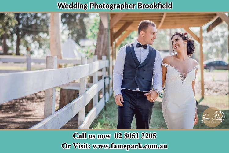 Bride and Groom at the farm Brookfield
