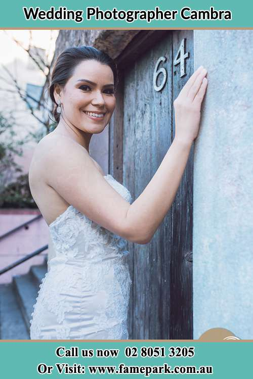 Photo of the Bride at the front door Cambra NSW 2420
