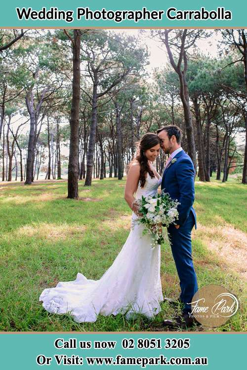 Photo of the Bride and the Groom at the yard Carrabolla NSW 2311