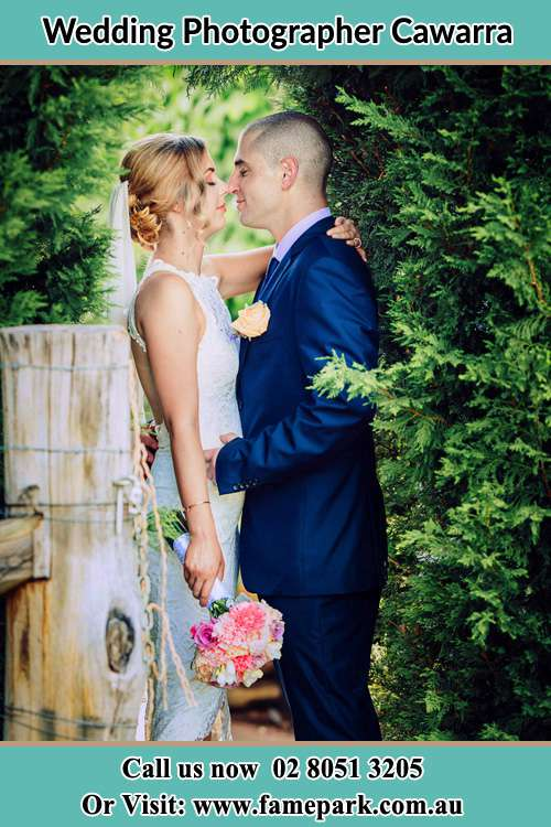 The Bride and the Groom in the garden Cawarra
