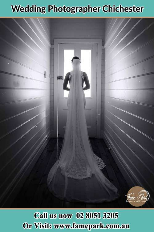 Photo of the Bride going out the door Chichester NSW 2420