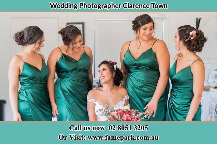 Photo of the Bride with the bridesmaids Clarence Town NSW 2321