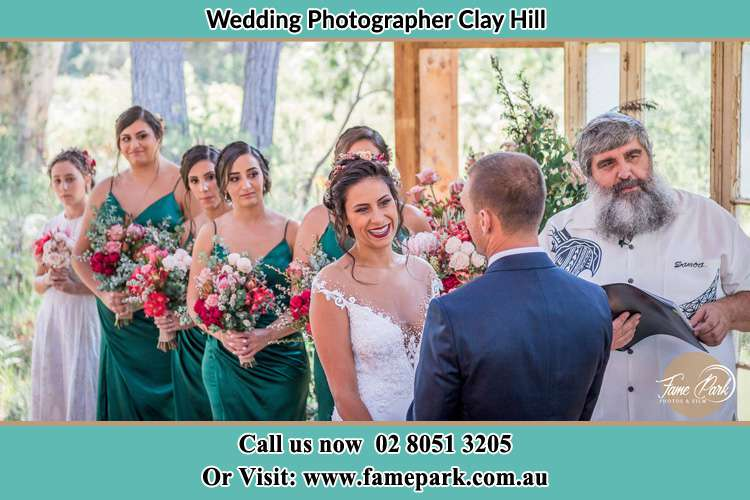 Photo of the Groom and the Bride during matrimony Clay Hill NSW 2420