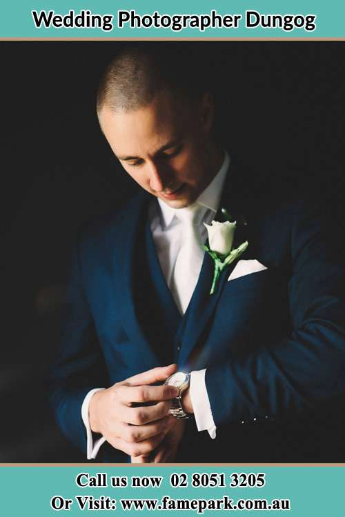 Groom Looking At His Watch Dungog