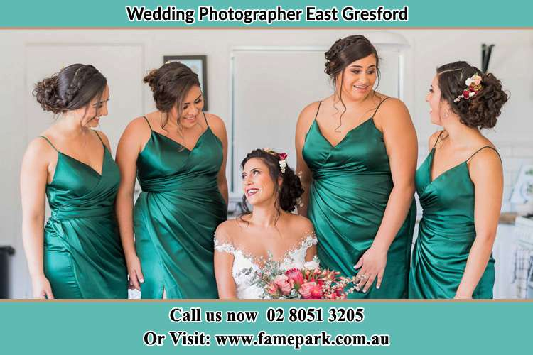 The Brides and her Bride's maids are all prepared East Gresford