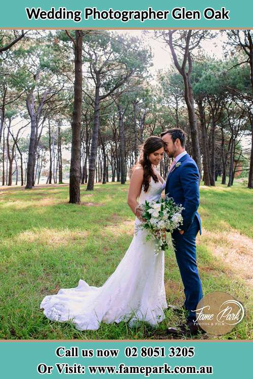 Photo of the Bride and the Groom at the yard Glen Oak NSW 2320