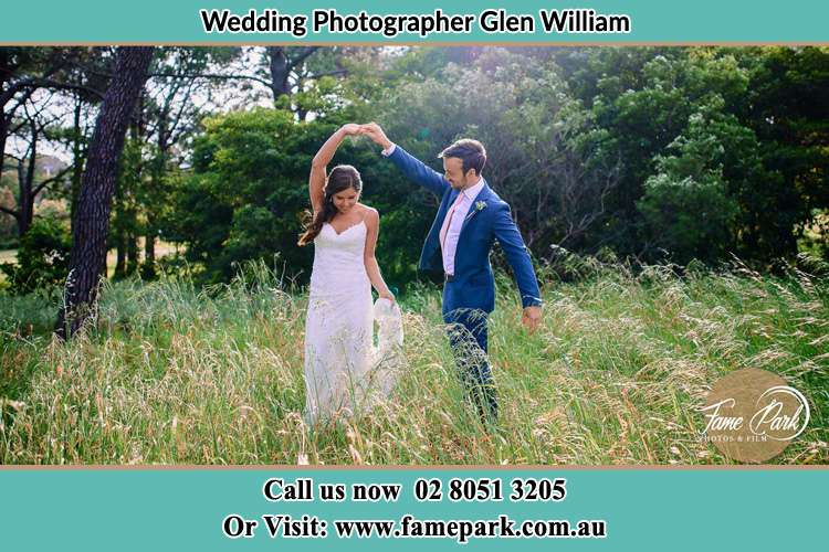 The Bride and Groom Dance outside Glen William