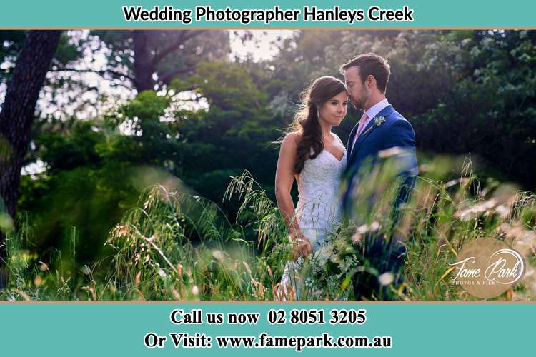 Bride and Groom at the hill Hanleys Creek