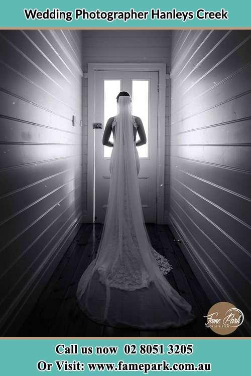 Photo of the Bride going out the door Hanleys Creek NSW 2420