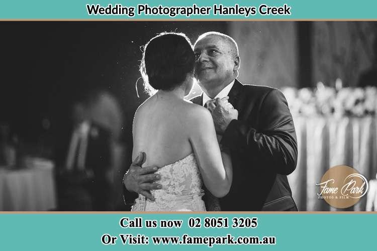 The Bride and her Father dance in the dance floor Hanleys Creek