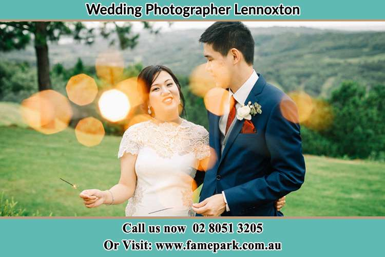 Photo of the Bride and the Groom at the yard Lennoxton NSW 2421