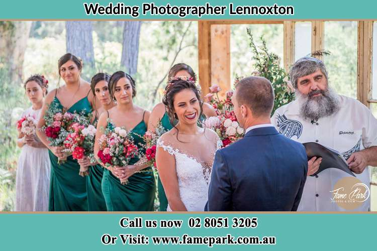 Photo of the Bride and the Groom during matrimony Lennoxton NSW 2421