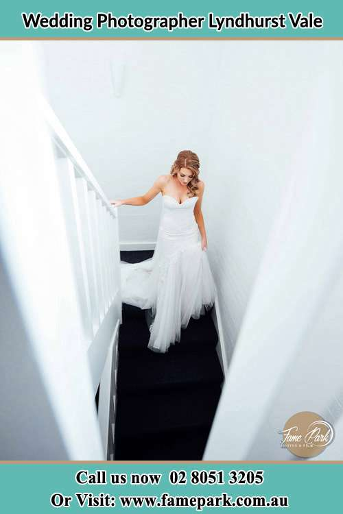 Photo of the Bride going down the stair Lyndhurst Vale NSW 2420