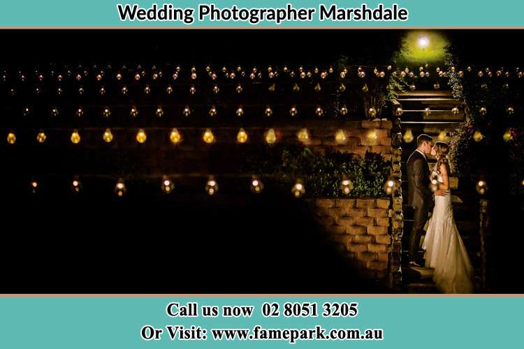 Photo of the Groom and the Bride kissing Marshdale NSW 2420