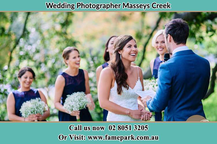 Photo of the Groom testifying love to his Bride Masseys Creek NSW 2331