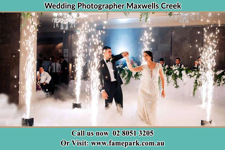 Photo of the Groom and the Bride dancing Maxwells Creek NSW 2420