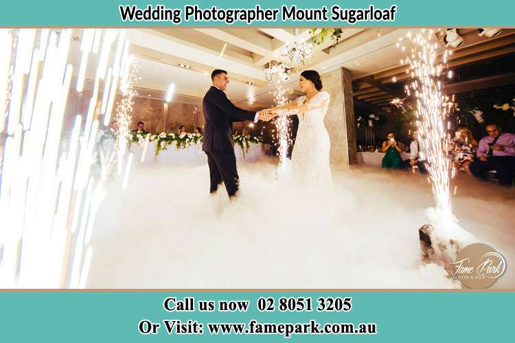 Photo of the Groom and the Bride dancing on the dance floor Mount Sugarloaf NSW 2286
