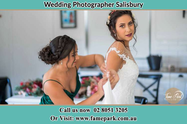 The Bride preparations and gown fitting Salisbury
