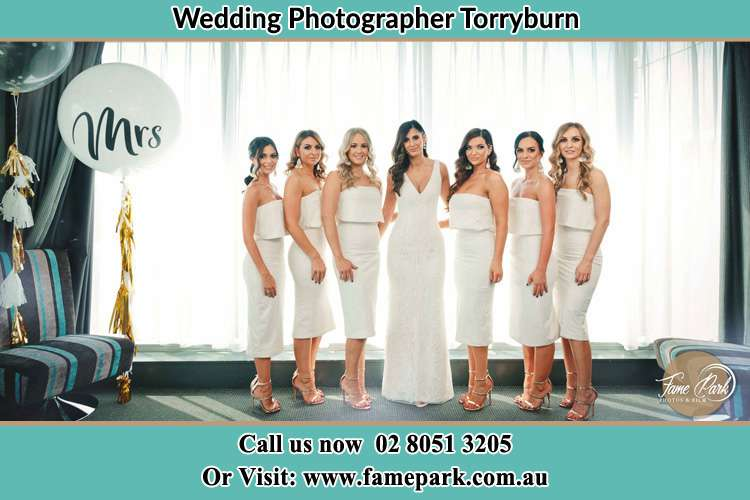 Photo of the Bride and the bridesmaids Torryburn NSW 2358