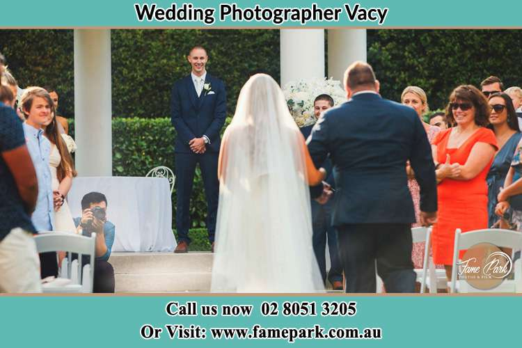 Photo of the Bride with father walking the aisle Vacy NSW 2421