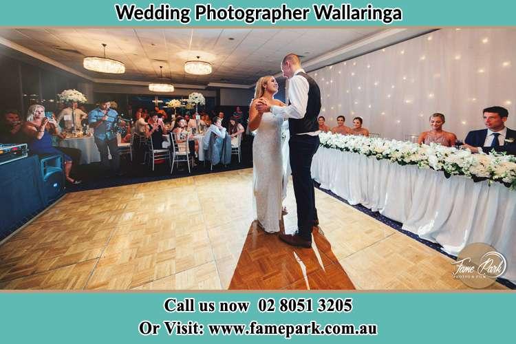 Photo of the Bride and the Groom dancing on the dance floor Wallarobba NSW 2420