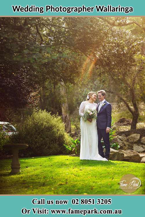Photo of the Bride and the Groom at the garden Wallaringa NSW 2420