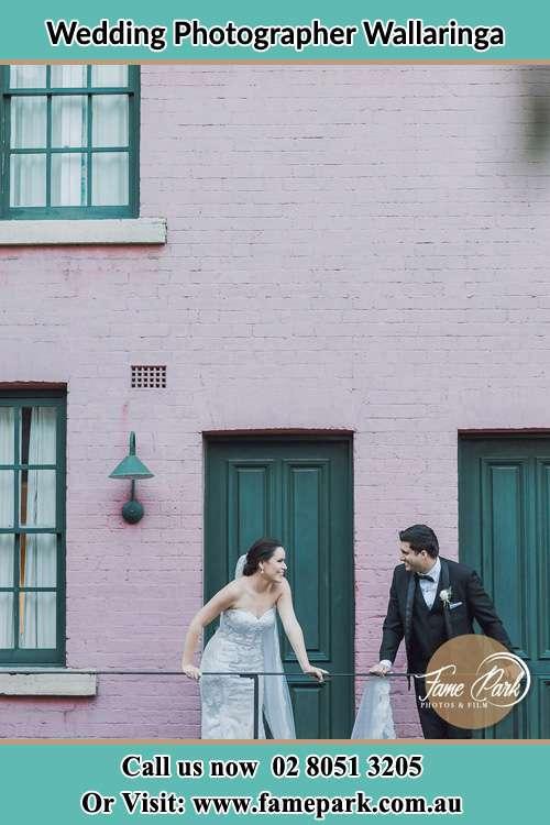 Bride and Groom at the balcony Wallaringa