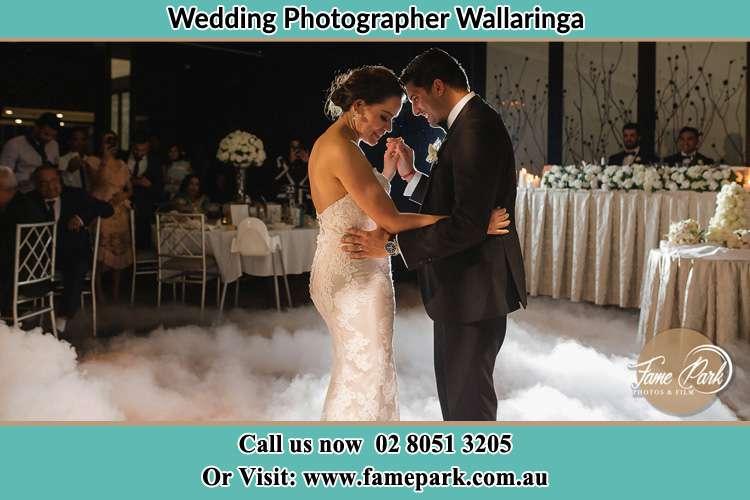 The Bride and Groomdance at the dance floor Wallaringa